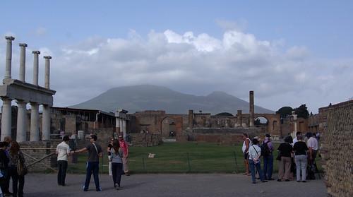 Vesuvius beyond the Forum of Pompeii
