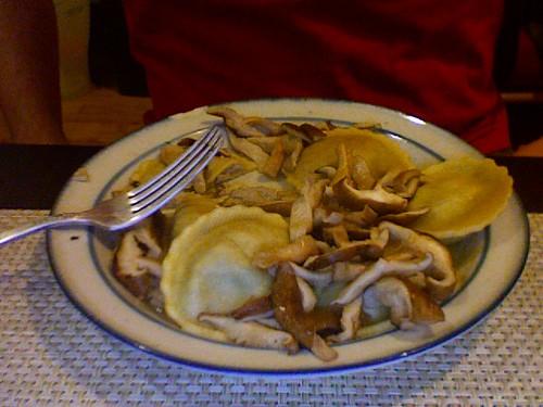 Mushrooms and Ravioli