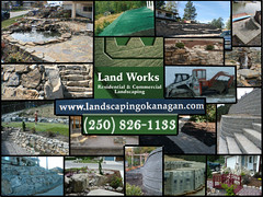 Land Works Landscaping Okanagan BC (ex landscaper guy) Tags: brick pool rock wall stairs landscape allan design waterfall pond landscaping decorative westbank courtyard artificial patio hydro staircase land paving keystone block walls slate bobcat pallets turf kubota flagstone interlocking retaining pavers wlodarczyk seeder hardscape basalite hydroseeder