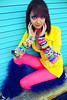 Kandi (NatVon Photography) Tags: sanfrancisco city girl female fur model colorful neon mare treasureisland candy bright makeup dancer teen rave gogo brunette kandi nikond80 beatyfromtheearth