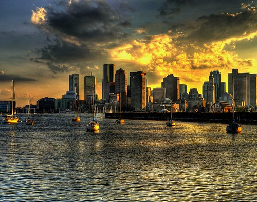 Boston Skyline - HDR