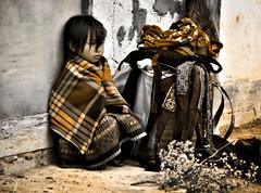 Photo Edit for Kiek (Sepia) (Su Inc) Tags: travel portrait girl sepia photography sadness solitude vietnamese child sad candid north vietnam cai depressed process miao ethnic minority tone lao emotive sapa hmong kiek