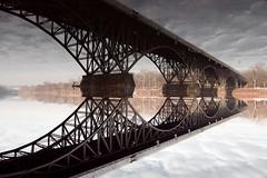 Strawberry Mansion Bridge this morning (Mr. Biggs) Tags: bridge winter philadelphia river biggs schuylkill mrbiggs strawberrymansionbridge
