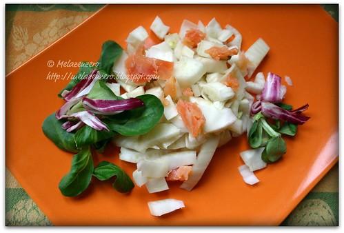insalata di finocchio e salmone