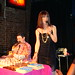 Murray Hill and Linda Simpson at drag bingo at Bowery Poetry Club