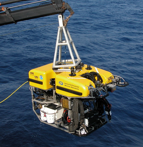 ROV into water