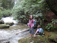 6-Iz and Sophie at Canada Creek Falls Cascade 3
