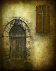 Old World (dog ma) Tags: door texture window shutters oldworld dogma medevil tuscanytexturefrommyset