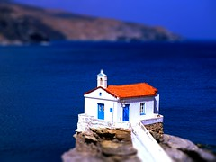 Miniature-CycladesIslands-tiltshift (doctormauri73 - amateur photographer) Tags: church islands miniature little best micro cyclades fakes tiltshiftmaker