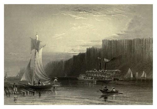 016-Los Pallisades en el rio Hudson 1840