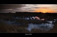 "sunset at ""de peel"" (qletsqop) Tags: sunset sun water netherlands evening nationalpark zonsondergang nederland veen moors avond zon moeras nationaalpark depeel qletsqop"