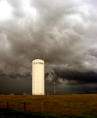 Plattsburg water tower (john4kc) Tags: sky storm tower water june clouds rural dark scary highway ominous hwy mo missouri chase thunder 116 plattsburg stormchaselive