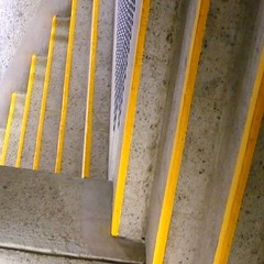 yellow II// (SteffenTuck) Tags: concrete brisbane pedestriantunnel qpac safetymarkings