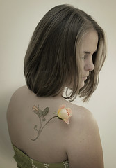 (lil' tara) Tags: portrait flower leaves rose tattoo 35mm back leaf nikon aaron d70s petal cracker bud nace sb900 aaronnace