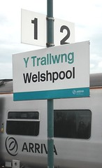 Welshpool Station Sign