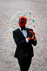 Deadpool (yeshayden) Tags: umbrella cosplay deadpool crackcon