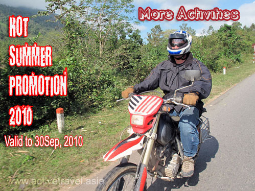 Motorcycling on Ho Chi Minh trail, Vietnam