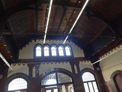 1899/1901 Magdeburg Empfangshalle im neogotischen Bahnhofsempfangsgebude Neustadt in Klinker von EBBI Paul Michaelis Grperstrae in 39106 Alte Neustadt (Berg