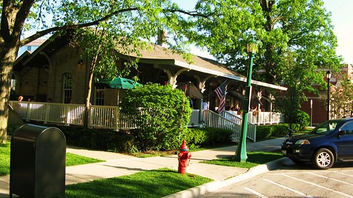 The preserved Wilmette Avenue station from the Chicago, North Shore And Milwaukee Railroad. Wilmette Illinois USA. May 2011. by Eddie from Chicago