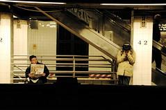 Adamantium (Rajko.be) Tags: nyc ass look underground subway sadness loneliness boobs metro tube journal direction surprise headphones mta runaway grandcentral metropolitan regard enclosure interrogation casque enfermement fuite prisonbreak lametags metropolitantransportationauthority mtropolitain 42dstreet mangersespoings dyouneedanyhelpsir