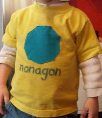 nonagon (pass/fail sewing) Tags: sewing craft tshirt applique nonagon