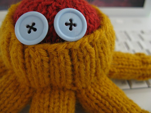 octopus wearing sweater