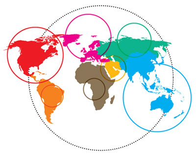relative carbon footprint by continent | click for statistics