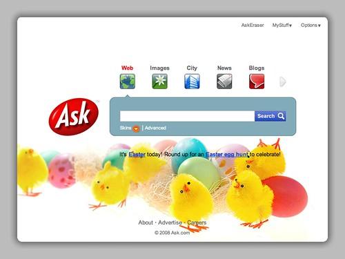 Ask.com Easter Logo