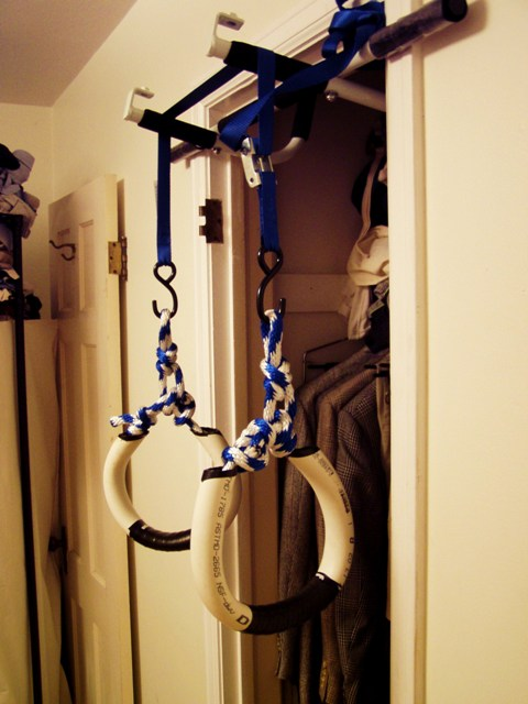 home made gymnastic rings rosstraining comfor ring pullups and muscle ups ( i can hope!)