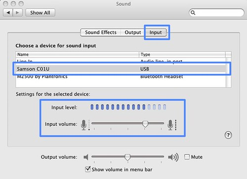 Sound panel URL