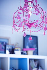 little pink chandelier (shimelle) Tags: lighting pink studio chandelier craftroom apartmenttherapycure apartmenttherapyny