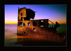 Gayundah (Garry - www.visionandimagination.com) Tags: lightpainting art water sunrise dawn rust bravo ship oz australia brisbane explore cloudless redcliffe wreck aus interestingness3 firstquality woodypoint brisbanemeetup gayundah hqms diamondclassphotographer flickrdiamond visionandimaginationcom visionandimagination wwwvisionandimaginationcom