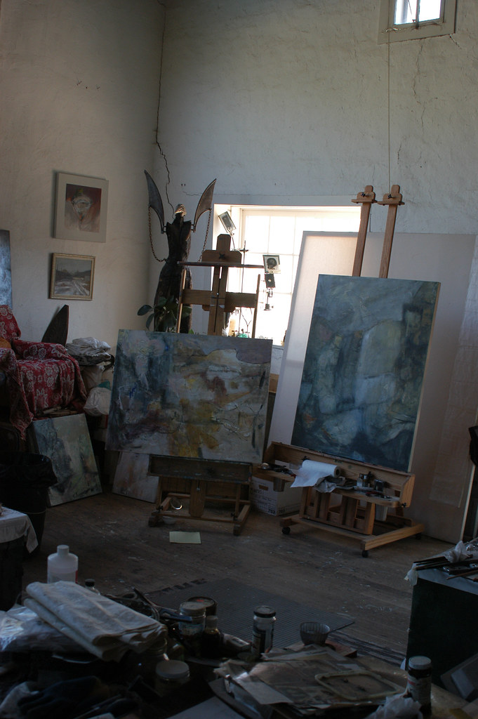 Still life of an artist's studio :: Taos