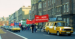 Turkish demonstration against deportations 1984