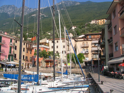 The harbour in Lake Garda