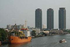 Bangkok2 016 (jo.sau) Tags: city river thailand asia ship bangkok south towers east chao siam thep phraya krungthep krung