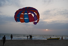 para gliding in goa (pallav moitra) Tags: beach goa anjuna panjim mandovi zuari baghator