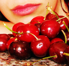I love cherries (NeN22) Tags: red selfportrait rojo bocca abigfave ilovecherries aplusphoto