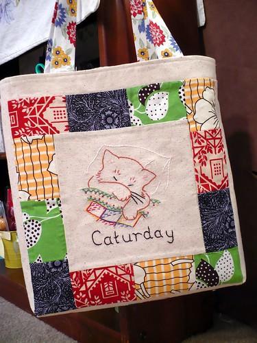 Caturday tote