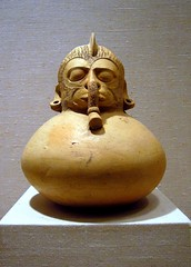 spouted vessel (ggnyc) Tags: nyc newyorkcity newyork art museum ceramic mexico manhattan vessel pot clay pottery met precolumbian metropolitanmuseumofart mesoamerican relic lahuasteca huastec spouted