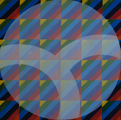 Harlequin's Enigma (CCNY Libraries) Tags: color art painting acrylic pattern contemporary ccny steinman percentforart citycollegeofnewyork diamondpattern robertbell