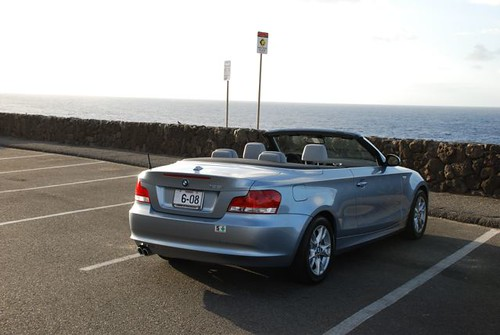 bmw 128i Convertible Blue Water Metallic rear view