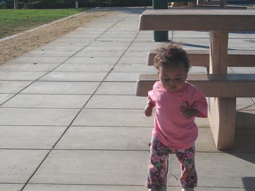 Maya takes a jog