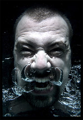 Drowned (Mr Magoo ICU) Tags: portrait water underwater air bubbles rage panic breathe baptise drown gulp drowned w
