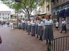 Castmember greeting on Disneyland's 50th Birthday. (07/17/2005)