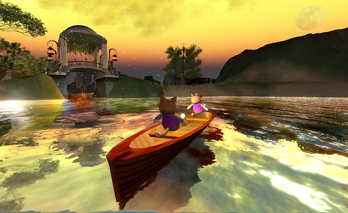 Riding canoes