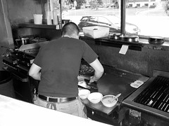 Butch short order cook, Amy's breakfast place,...