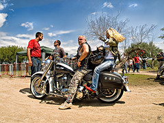 Rubios (Paco CT) Tags: people woman man mujer spain couple gente pareja candid calafell personas harley moto motorcycle catalunya persons 2008 davidson hombre hdc candidshot lucisart robado santsalvador elvendrell ltytr2 ltytr1 humanpresence pacoct presenciahumana xviiiinternationalmeetingharleydavidson elvendrell08