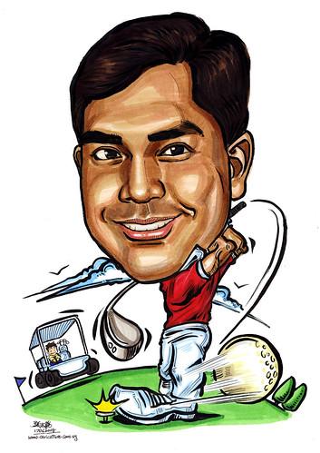 Caricature Golfer