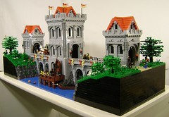 Chteau sur la Rivire (DARKspawn) Tags: bridge tower castle river lego keep legocastle dojon